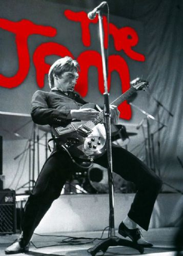 THE JAM - PAUL WELLER - red jam canvas print - self adhesive poster - photo print